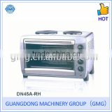 45L 110V-240V 1200W Electric Oven With Two Hotplates
