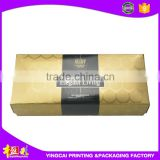 Wholesale china manufacturer luxury bright golden color printed paperboard/ cosmetic packaging carboard box