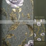 deep embossed home decor vinly wallpaper with beautiful European flowers