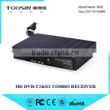 2016 Most Popular Combo Receiver full hd 1080P satellite and cable DVB-S2 DVB-T2 modulator