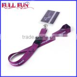 Polyester custom high quality craft lanyard with silkscreen printing logo, lanyard with pVC card holder