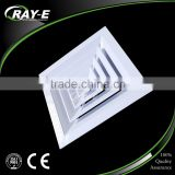 aluminum 4 way supply duct ceiling square air conditioning diffuser for HVAC