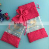 Top quality colored jute bag with drawstring