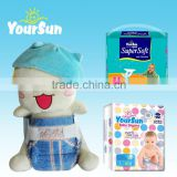 OEM disposable baby diaper / PE film baby diaper material