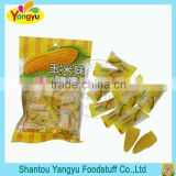 Sweet corn flavor corn shape gummy candy soft candy
