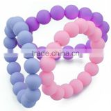 Baby Pacifier Teething bracelets for Mom, Silicone Chew Beads, 100% BPA Free