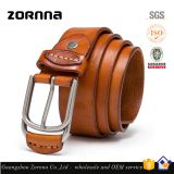 Zornna factory school supply fashion online korean shop style jeans fitting high quality strip leather belts for men