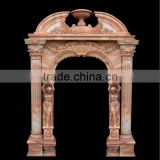 House Marble Arch Shapred Door with Pattern Carving