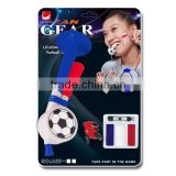 2016 Euro Cup sports fans football horn and whistle with French color face paint set/ fan gears / soccer fans noise maker kit