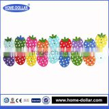 Promotion custom colorful pattern decorative strawberry shape fancy wooden button bulk for childern clothing