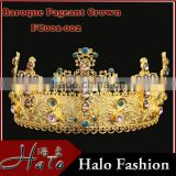 FC001-001Fashion Baroque Style Headband Wedding Pageant Crown Beauty Queen Crystal Crown