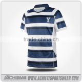 wholesale OEM team set sublimated cheap striped rugby jerseys