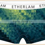 Green Leafs 88% Polyester 12% Factory Fashion Printed Design Your Own Mens Underwear