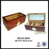 150 CT Glass Top Wooden Cigar Humidor