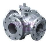Stainless Steel 4Way Flanged Ball Valve