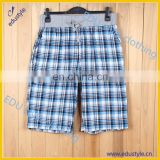 High quality plaid mens beach shorts for sale