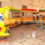 Amusement Park Rail Electronic Train for kids and parents together Sports equipment electronic train