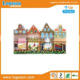 House shape with flower souvenir promotion custom resin fridge magnet