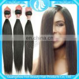 indian remy hair hand tied weft with full end,3 pieces for one head
