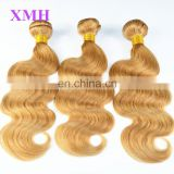 High quality aliexpress Hair remy human hair weft blonde