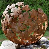 Large Modern Stainless And Corten Steel Garden Sculpture
