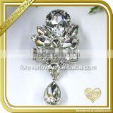 Initial rhinestone button brooches crystal embellishment DIY bouquet brooch for wedding banquet FB-034