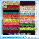 Low Price Spider Mesh Glitter PU Leather Fabric