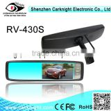 2014 best sellin 4.3 inch HD digital LCD monitor Rearview mirror with Car cameras rearview systems