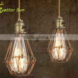 Vintage Copper Wire Cages Industrial Pendant Light for Bar                                                                         Quality Choice