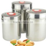 stainless steel tea coffee sugar canisters container