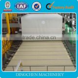 Hot selling 70 T/D, 3200mm width fourdrinier / single wire type kraft paper making machine, raw material: waste paper