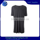 Blank Short Sleeves Cotton T shirts Tall Cutting Black for Men                                                                                         Most Popular