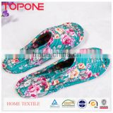 2015 Summer Fashion Slipper Shoes Custom Printed Cotton Quilting Fabric Woman Cotton Slipper