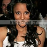 20'',fashion beauty body wave synthetic lace front wigs bangs