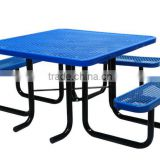 Picnic Table, Expanded Picnic Table, Square, 46inch, for ADA, Blue, Green, etc.