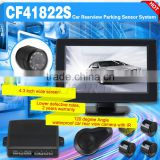 4.3 inch wide screen rearview car parking sensor system with waterproof night vision camera