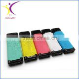Cigarette usage plastic material colored streak torch lighter with LED light