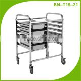 Europea Style Double Row Stainless Steel Tray Rack Trolley/Mobile Gastronorm Rack Trolley BN-T19~21