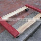 hard wood with rubber furniture moving dolly