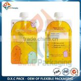 BPA Free Baby Food Squeeze Pouch Customized Standing Up Bag