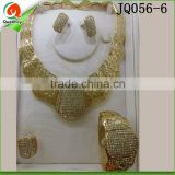 jewellery set bridal nigerian gold plated jewelry for wedding JQ056-6