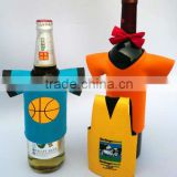 Fashionable neoprene beer bottle holder with T-shirt printing
