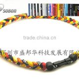 2014 hot sell braided sports necklace for baseball