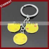 NEW arrival Fashion cute promotional gift smile face emoji Keychain/                                                                                                         Supplier's Choice