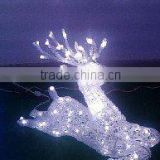 kids swing,high quality LED magic colour christmas lights for outdoor project/LED 3D motif christmas deer snowman