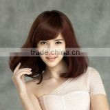 wholesale cheap Synthetic wigs fashion lady's hair with fringe (bang) machine made wigs china manufacturer