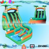 Tropical wild splash pool cheap giant inflatable water slide for sale                                                                                                         Supplier's Choice