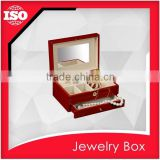 High-end MDF jewelry craft box with drawer