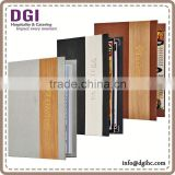 guaranteed dartboard leather menu cover for restaurant hotel / paper holder/ dessert holder printing