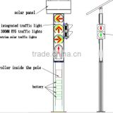 Brand new 300mm integrated solar powered wireless pedestrian traffic signal light with button